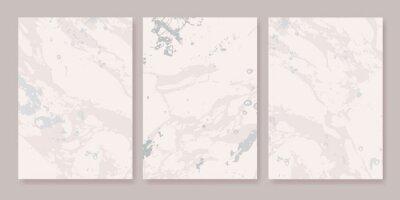 Set of elegant marbled vector backgrounds