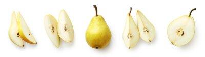 Naklejka Set of fresh pear isolated on white background