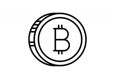Set of Line Stroke Vector Bitcoin and Cryptocurrency Icon