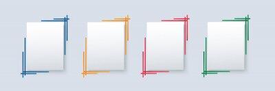 Naklejka set of modern square isolated color frame template background vector illustration EPS10