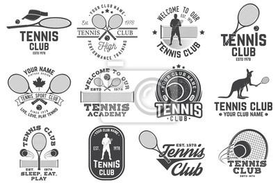 Naklejka Set of Tennis club badges