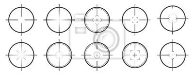 Naklejka Set of vector Aim icons isolated.