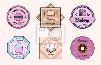 Set of vector bakery logos.