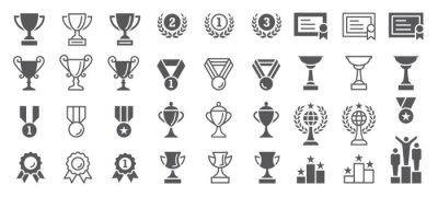 Naklejka Set of Winning Vector Icons