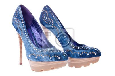 sexy jean niebieskie buty