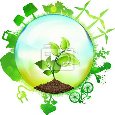 Naklejka Sfera Green Energy