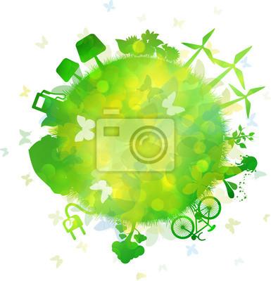 Naklejka Sfera Green Energy, Farfalle