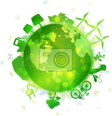Naklejka Sfera zielona energia