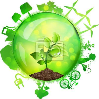 Naklejka Sfera zielona energia, Farfalle