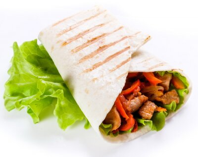 Naklejka shawarma w chleb pita
