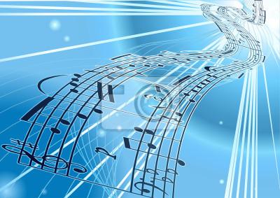 Sheet music tło Wektor