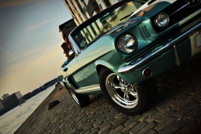 Naklejka Shelby Replika Mustang 350 w zachodzącym słońcu
