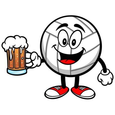 Naklejka Siatkówka Maskotka z piwa