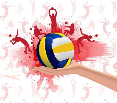 Naklejka Siatkówka, sport, tło projektu