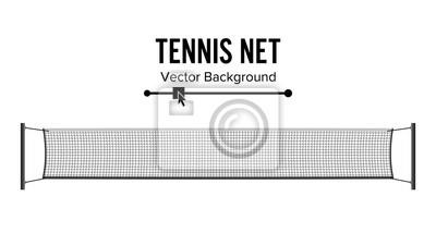 Naklejka Siatkówka tenisowa. Realistyczne netto używane w grze sportowe w tenisa. Samodzielnie Na Białym Tle. Ilustracja wektora