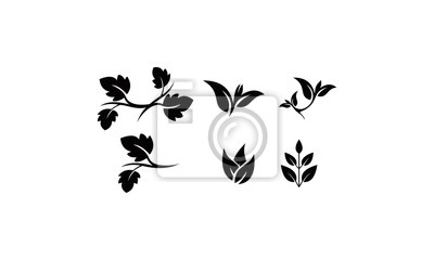 silhouette logo branch