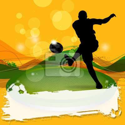 Silhouette Shooting Soccer
