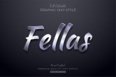 Naklejka Silver Elegant Editable Text Effect Font Style