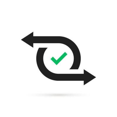 Naklejka simple cash flow icon or easy transfer