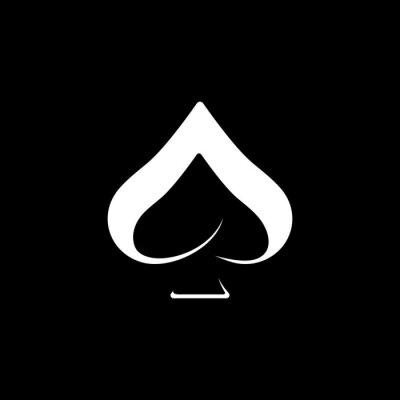 Naklejka simple symbol ace logo design
