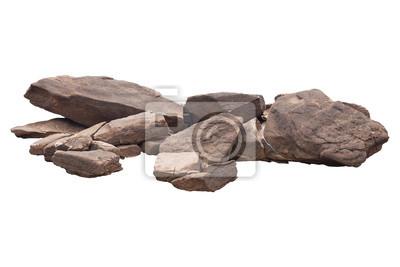 Naklejka skała odizolowywająca na białym tle