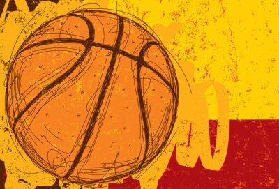 Naklejka Sketchy Koszykówka tła