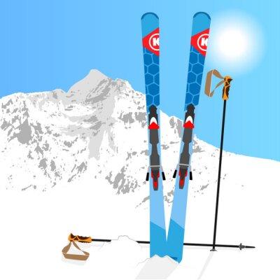 Naklejka Ski and Snowboard odpoczynek 01