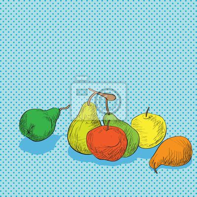 Naklejka Skład owoców