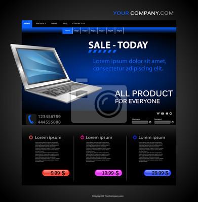 Sklep Szablon strony internetowej Computer