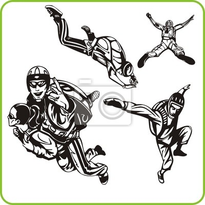 Skok z spadochronem. Extreme sport.