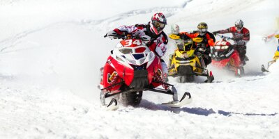 Naklejka skuter śnieżny wyścig