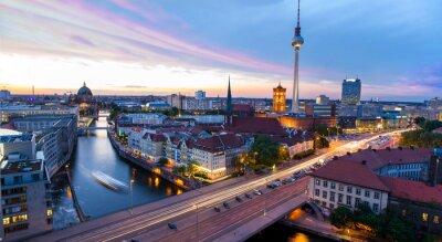 Naklejka Skyline Berlin, Blick auf den Alexanderplatz