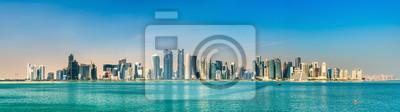 Naklejka Skyline Doha, stolicy Kataru.