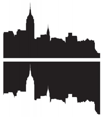 Naklejka Skyline z Nowego Jorku