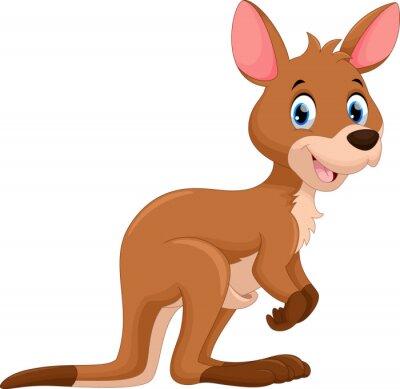 Naklejka Śliczne kangura kreskówki