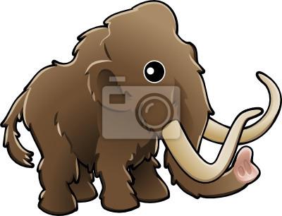 Śliczne mamut włochaty ilustracji