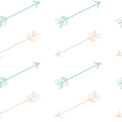 Naklejka śliczny pastelowy kolor różowy niebieskie strzałki bez szwu wzór tła ilustracji wektorowych