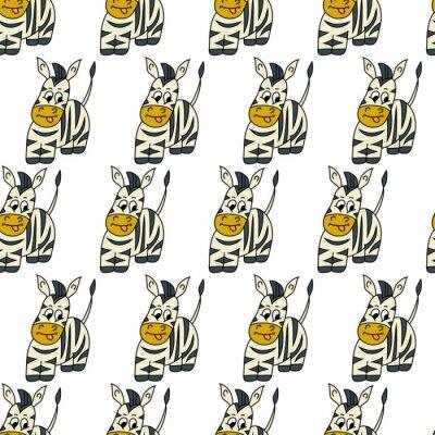 Śliczny zebry bezszwowy wzór