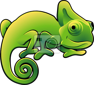 Słodkie Chameleon ilustracji wektorowych