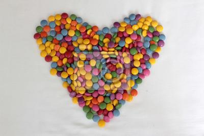 Słodkie cukierki cukierki w kształcie serca