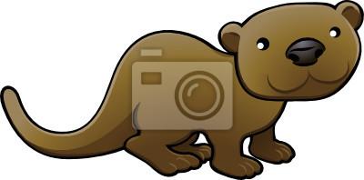 Słodkie ilustracji wektorowych Otter