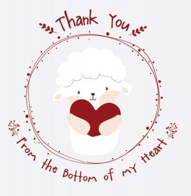 słodkie owce dziękuję karty