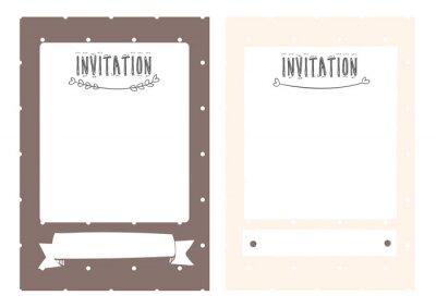 słodkie polkadot zaproszenia