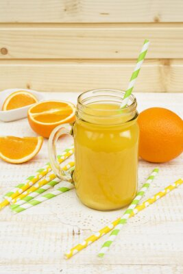 Naklejka słoik soku pomarańczowego