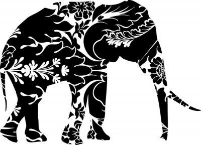 Naklejka Słoń graficzny