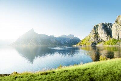 Naklejka słońca w wysp Lofoty, Norwegia