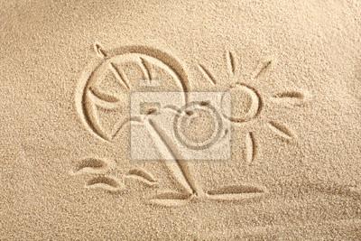 Naklejka słońce na piasku