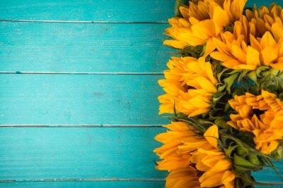 Naklejka słonecznika na stole