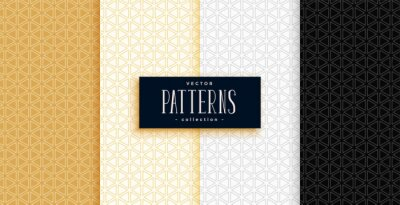 small triangles geometric patterns set in premium colors
