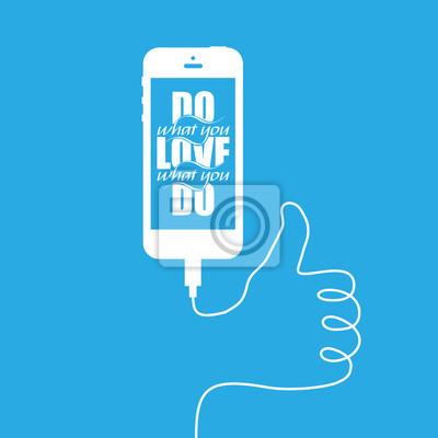 """Smartphonee z drutu tworząc """"jak"""" znak"""